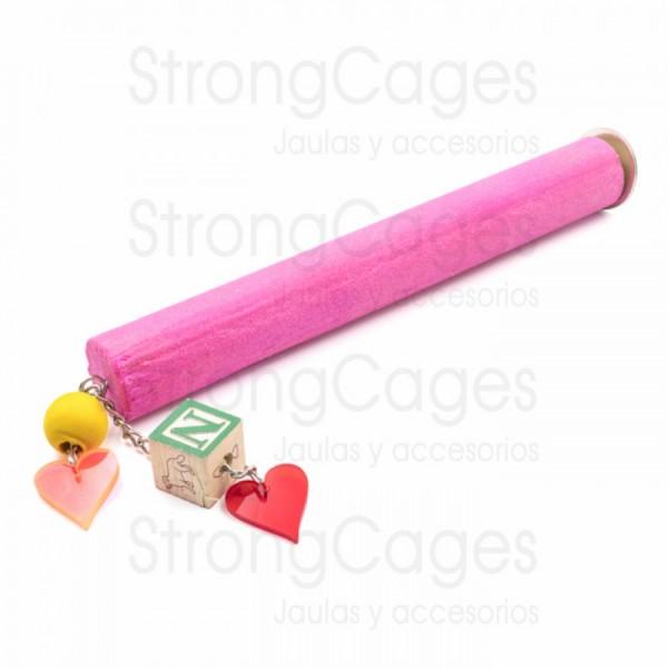 Posadero lima uñas con juguete para aratingas, pyrruras, you-yous