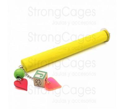 Posadero lima uñas con juguete para amazonas, yacos, cacatúas