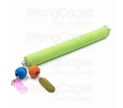 Posadero lima uñas con juguete para agapornis, periquitos, ninfas…