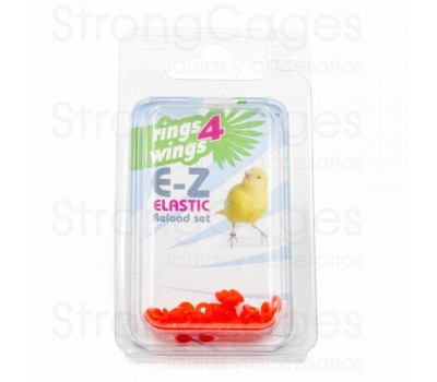 Anilla elástica 3 mm - Naranja (50 unds)