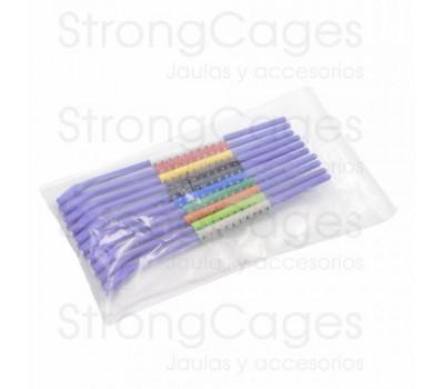 Anillas de plástico numeradas 3 mm Canarios