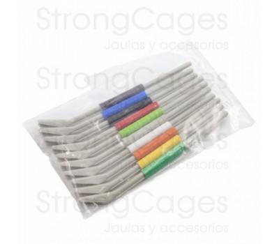 Anillas de plástico numeradas 4 mm Psitacidas