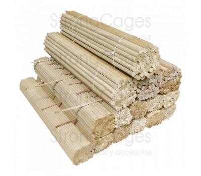 Palo de madera de pino para canarios 15 ud